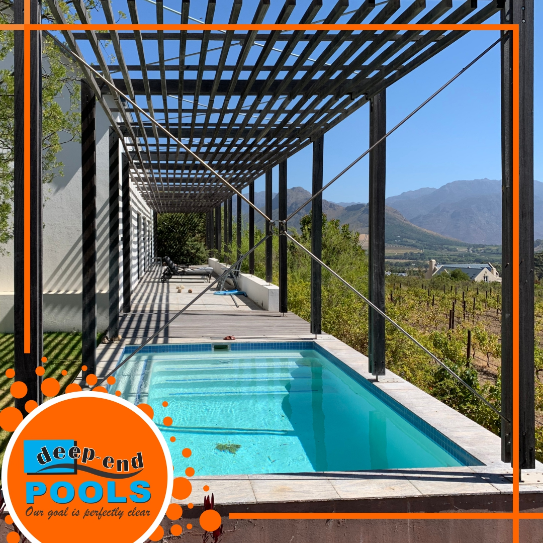 Deep-End Pools recently worked on renovating this beautiful pool in Franschhoek