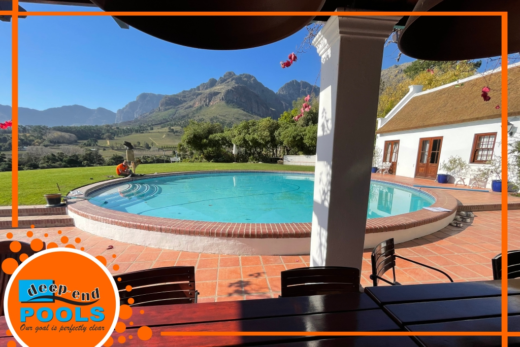 Deep-End Pools are a full-service pool fibreglass, marbelite and re-construction and maintenance pool company, servicing Paarl, Franschhoek, and the surrounding Cape Winelands Areas.